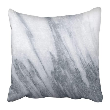 ARHOME Blue Abstract White Marble with Scratch Gray Aged Antique Bright Counter Detail Pillow Case Cushion Cover 20x20 inch