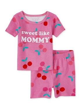 The Children's Place Baby & Toddler Girl Short Sleeve & Shorts Pajamas, 2pc Set