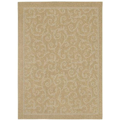 Shaw Living Scroll Adobe Canvas Tufted Rug, Beige