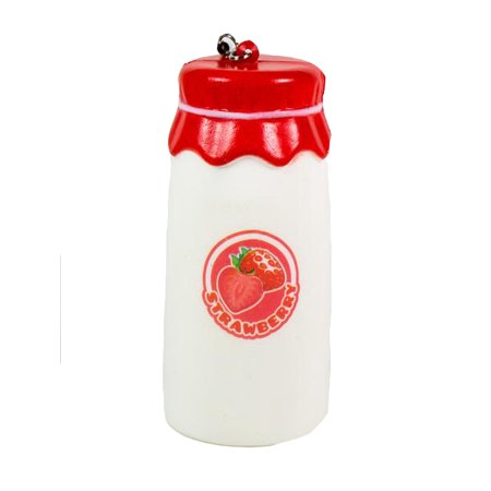 Old Fruit (Kawaii Old Style Fruit and Milk Bottle Squishy - Red Strawberry )