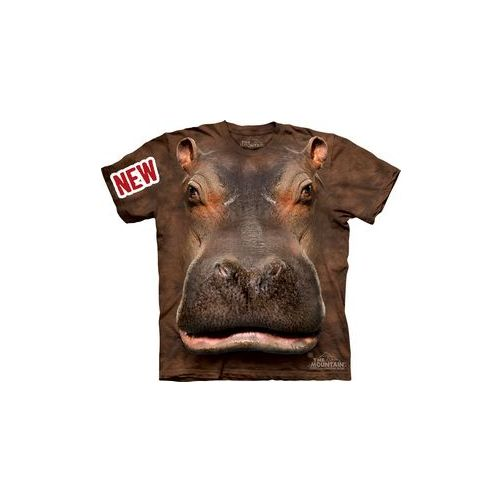 Hippo Head Adult T-Shirt by The Mountain - 10-3384