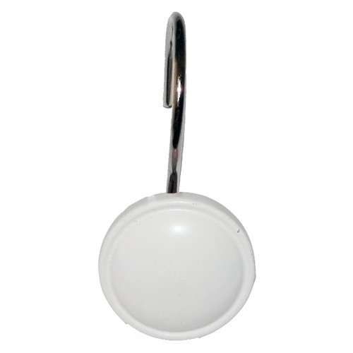 "Color Rounds"" Resin Shower Curtain Hooks in White"
