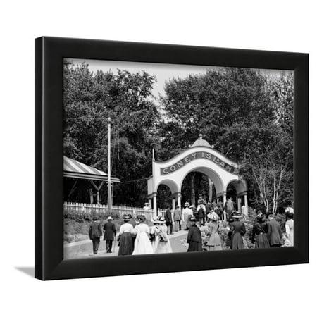 Coney Island, Entrance, Cincinnati, Ohio Framed Print Wall - Coney Island Ohio Halloween