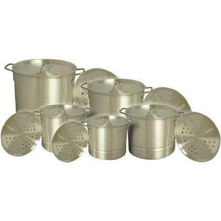 King Kooker 5-Piece Aluminum Nested Pot Set