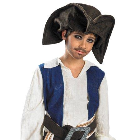 Morris Costumes Jack Sparrow Pirate Hat Child Look just like a real pirate with this o, Style DG18780 - Jack Sparrow Kids Costume