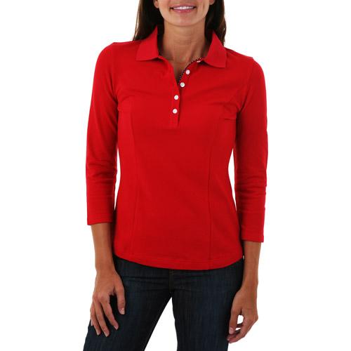 Riders - Women's Martha Ultra-Fit 3/4-Sleeve Polo Shirt