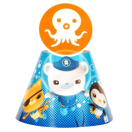 The Octonauts Cone Hats, Pack of 8 Derby Hat Eight Cone