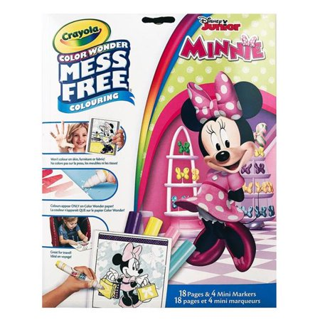 Crayola Color Wonder Mess Free Colouring Minnie Mouse - 18 pages and 4 Mini (Minnie Color)