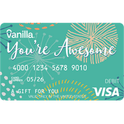 $25 You're Awesome Vanilla eGift Visa® Virtual Account (email delivery)