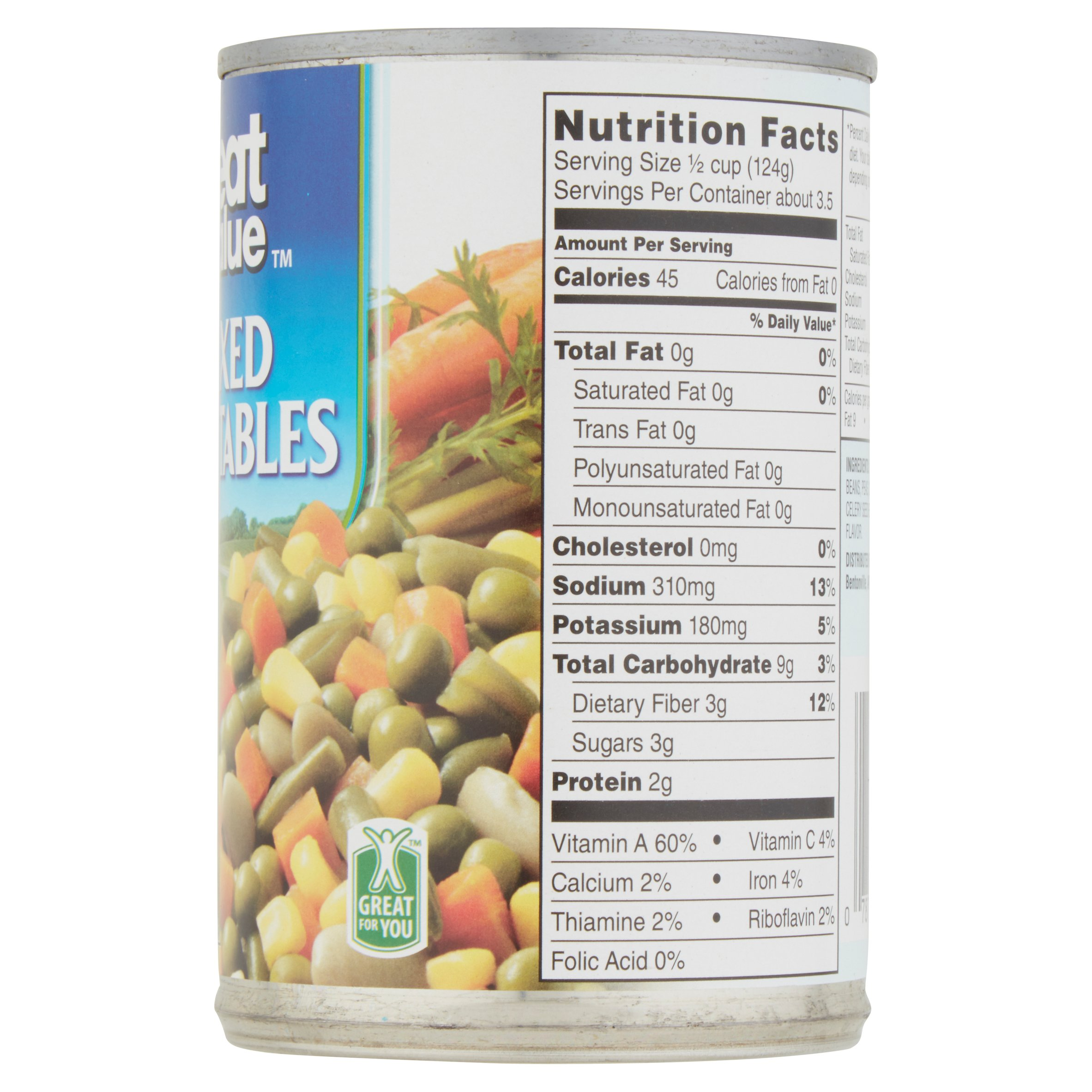 Canned Vegetable Nutrition