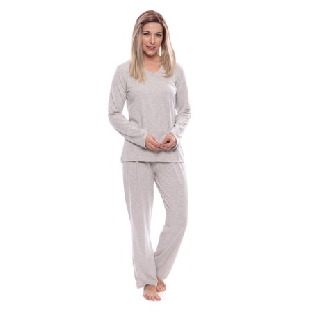 Women's Faux-Wrap Pajama Set - Luxury Sleepwear for Her by Texere - Cheap Onesies For Women