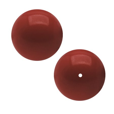 Swarovski Crystal, #5810 Round Faux Pearl Beads 6mm, 50 Pieces, Red