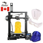Creality 3D Ender-3 Pro High Precision 3D Printer DIY Kit MK-8 Extruder with Resume Printing Function Heatbed Support 220*220*250mm Printing Size for Home & School Use