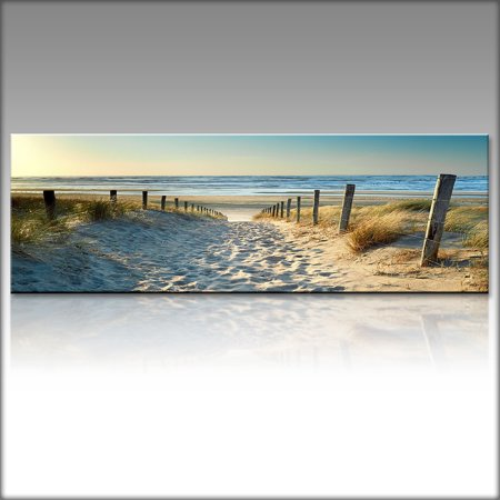 Mrosaa Ocean Beach Nature Landscape Canvas Print Wall Art Painting For Living Room Decor And Modern Home Decorations - No