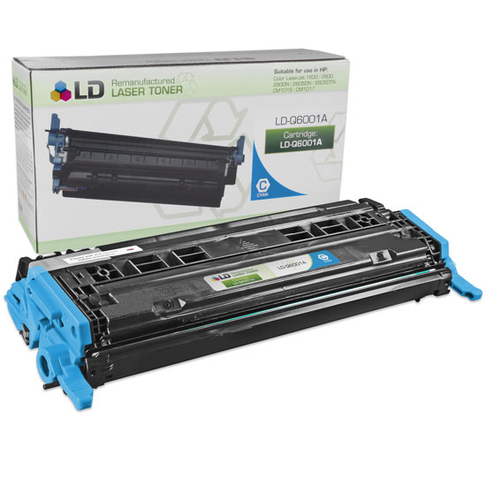 Remanufactured Toner Cartridge for HP 124A Cyan, 2,000* Page Yield (Q6001A)