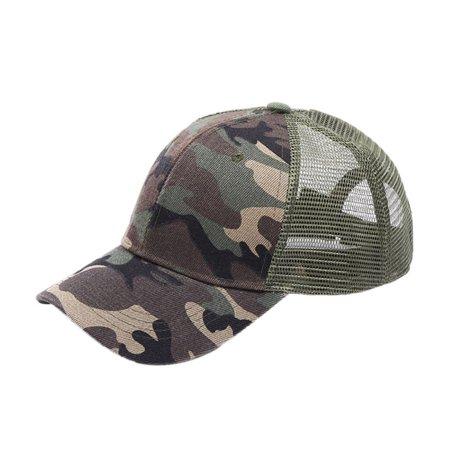 Womens Trucker Hat (Womens Ponytail Messy High Buns Mesh Trucker Ponycaps Plain Baseball Cap Dad Hat Adjustable Size,Variy Styles and)