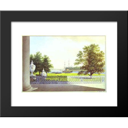 View Terrace - View from the Terrace of the Elagin Palace 20x24 Framed Art Print by Maxim Vorobiev