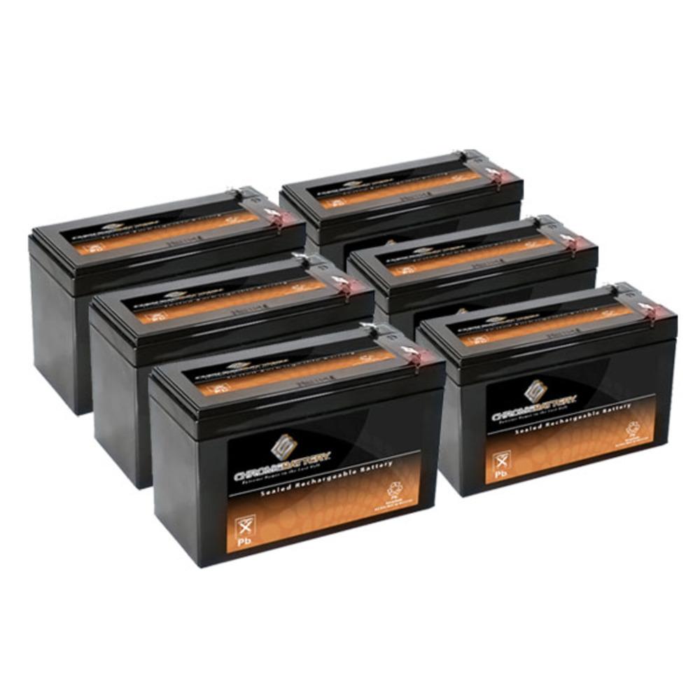Chrome Battery 12V 7.6AH SLA Battery replaces hr9-12 gp12...