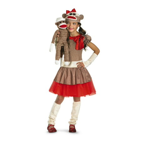 Sock Monkey Halloween Costume Diy (Child Sock Monkey Girl Costume Disguise 38334, 10 to)