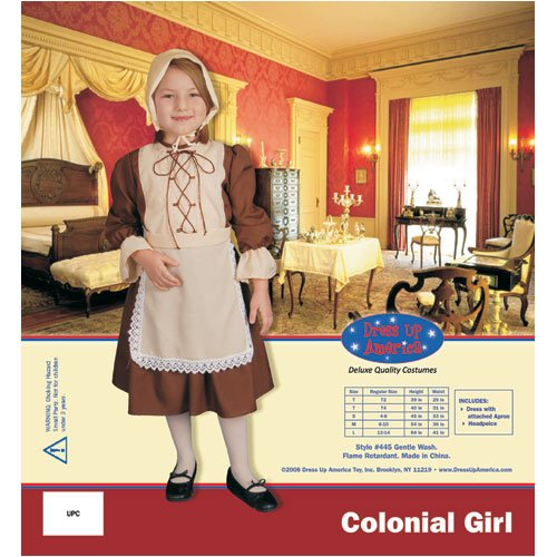 Dress Up America Colonial Girl Children's Costume