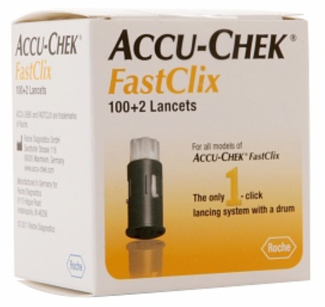 ACCU-CHEK FastClix Lancets 102 Each (Pack of 2)