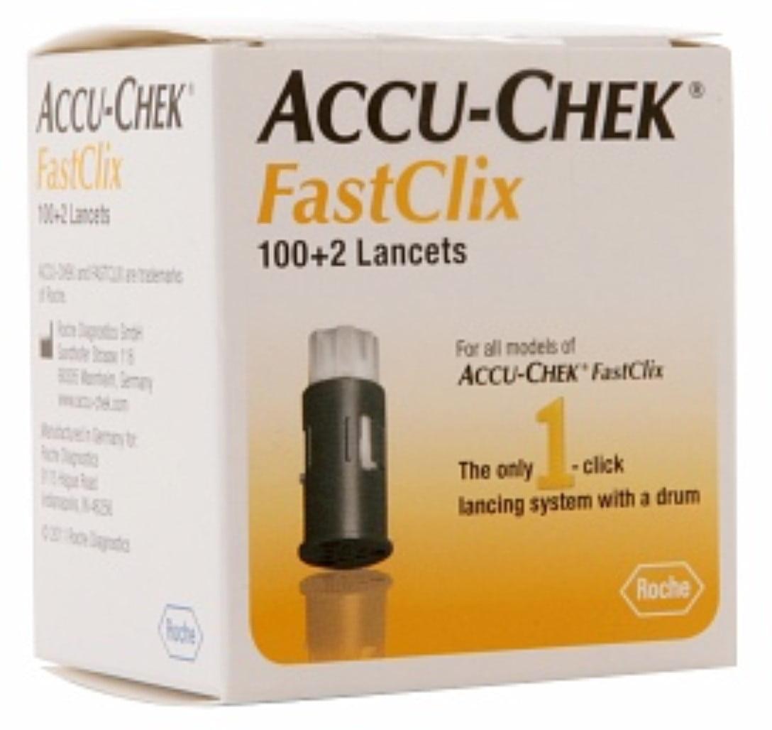 6 Pack - ACCU-CHEK FastClix Lancets 102 Each