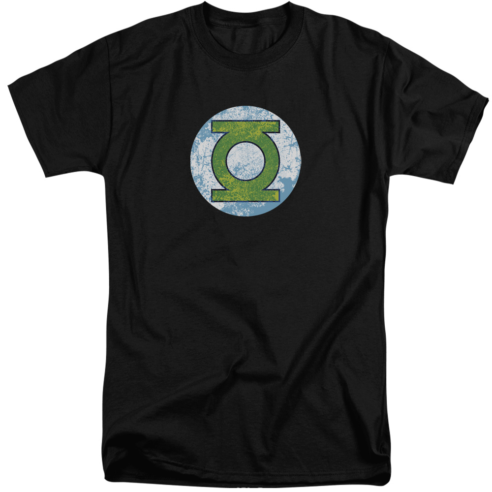 DCO Green Lantern Neon Distress Logo Mens Big and Tall Shirt
