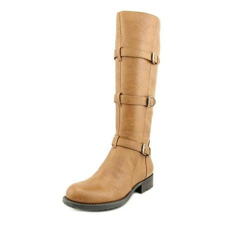Franco Sarto Petite Women  Round Toe Synthetic Tan Knee High