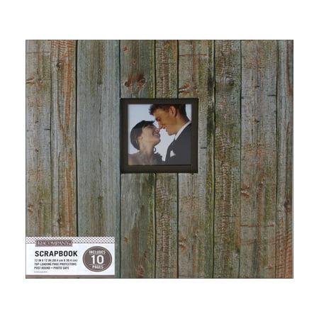 K&Co Scrapbook 12x12 Window Weathered Wood - 12x12 Scrapbook