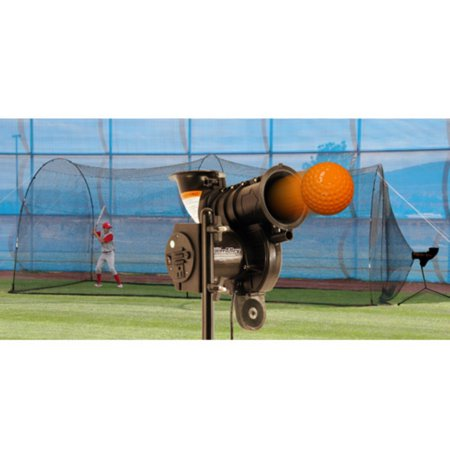 Heater Sports PowerAlley Lite-Ball Pitching Machine & PowerAlley Batting Cage ()