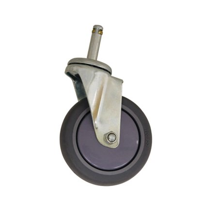 Thunder Group PLCB4140, 4-Inch Rubber Wheel Caster For Bus Carts