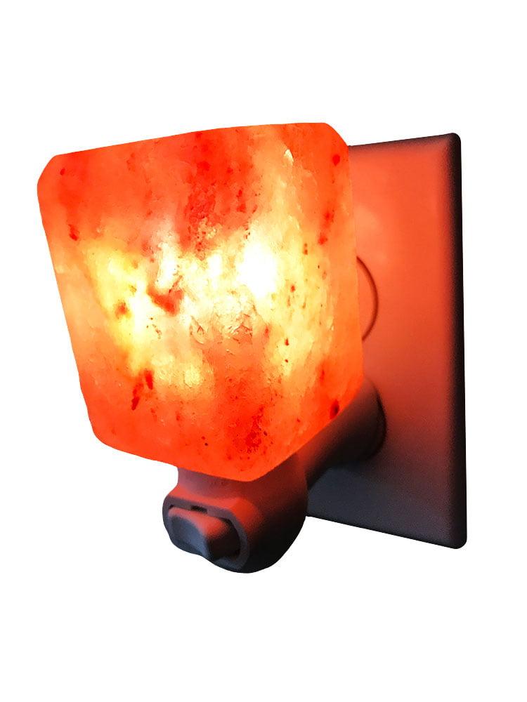 Dream Salts Himalayan Salt Night Light   Natural Crystal Lamp   Decorative Air Purifier Plugin Wall Light (Natural) by
