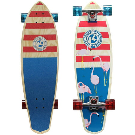 "Kryptonics 32"" Mini Diamondtail Longboard Complete Skateboard (32"" x 9"")"