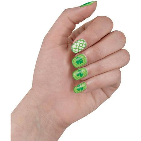 Shamrock St. Patrick's Day Nail Stickers, 2 (St Patrick's Day Makeup)
