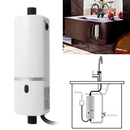 3000W Instant Electric Tankless Hot Water Heater Shower SystemSink Tap