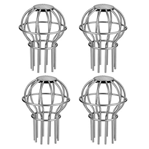 2INCH Stops Leaves Seeds and Other Debris Gutter Cleaning Tool Gutter Guard 2 Inch 304 Stainless Steel Filter Strainer Renewed 4 Pack