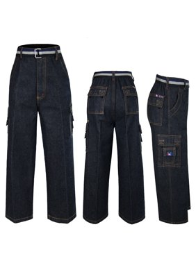 Baby Boys Toddler Teen Causal Denim Pockets Jeans Pants 6yrs to 14yrs
