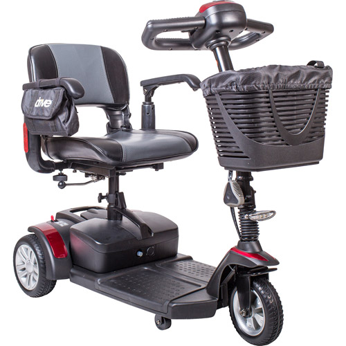 Drive Medical Spitfire EX Compact Travel Power Mobility Scooter, 21AH Battery, 3 Wheel