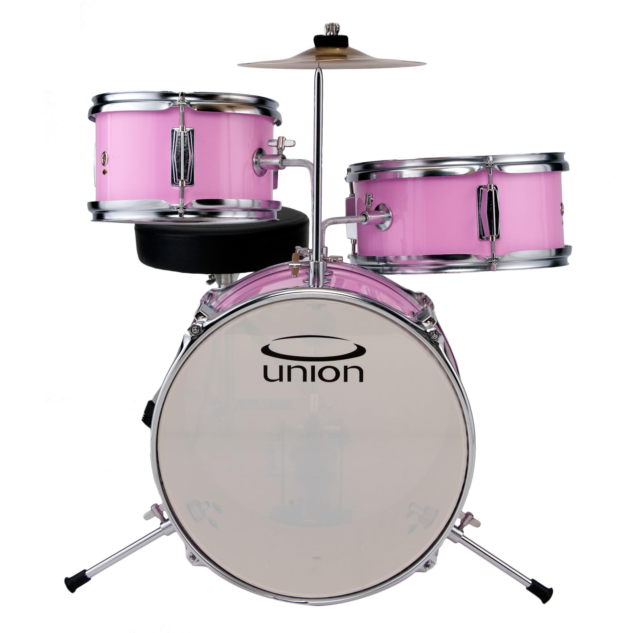 Union 3 Piece Pink Toy Drum Set Walmart Com