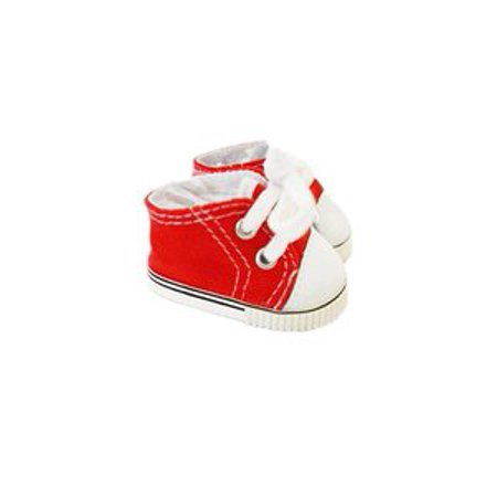 My Brittany's Red Canvas Tennis Shoes for Wellie Wisher Dolls- 14 Inch Doll Clothes