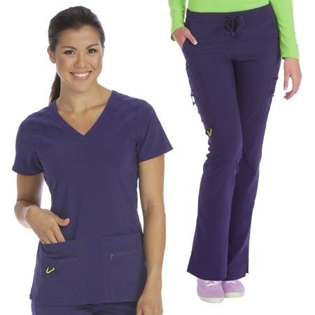 (Med Couture Activate Refined V-Neck Top & High Definition Cargo Pant Scrub Set[XS - 3XL] + Free Gift + FREE SHIPPING)