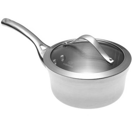 Calphalon Contemporary Stainless 1.5-Quart Saucepan with Glass Lid