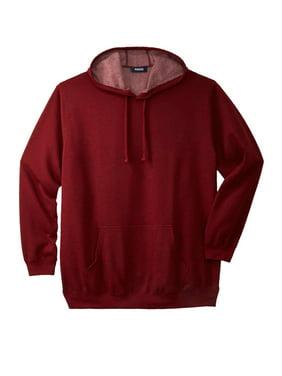 KingSize Mens Big /& Tall Fleece Pullover Hoodie 3XL Big Red