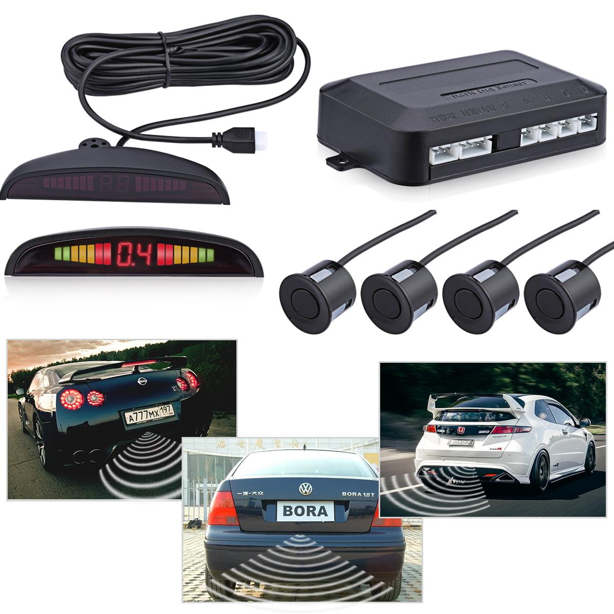 LED Parking Sensor Kit 4 Sensors LED Display Car Auto Backup Reverse Radar