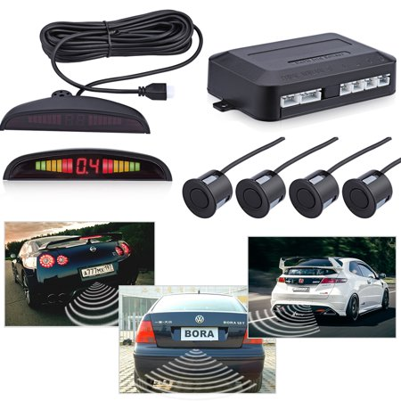 LED Parking Sensor Kit 4 Sensors LED Display Car Auto Backup Reverse Radar