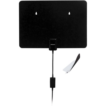 Polaroid ATA-3650P Amplified Ultra Thin Omni-Directional HDTV Indoor Antenna, Reversible, Black/White