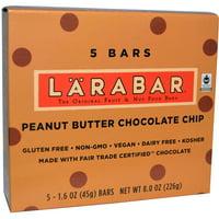 Larabar, Peanut Butter Chocolate Chip, 5 Bars, 1.6 oz (45 g) Each(pack of 1)