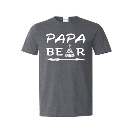 Papa Bear Teepee T-shirt Father's Day Shirts (Father's Day Stuff)
