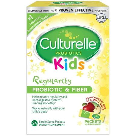 (3 Pack Culturelle Probiotics Kids Fiber & Probiotic Blend 24 Single Packs each)