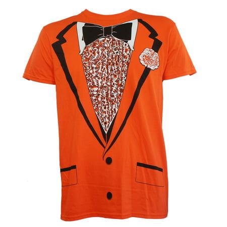 Tuxedo Orange Tux Bow Tie Retro Prom Costume Dumb Dumber Slim-Fit T-Shirt S-2XL - Blue Dumb And Dumber Tuxedo